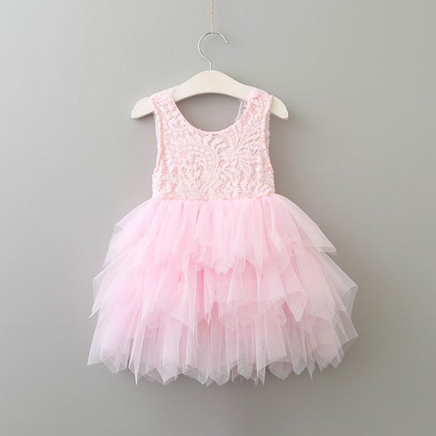 "The ""Emma"" Light Pink Lace Baby Dress - Angora Boutique"