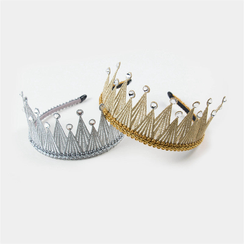 Lady Lace Crown Headband - Gold or Silver