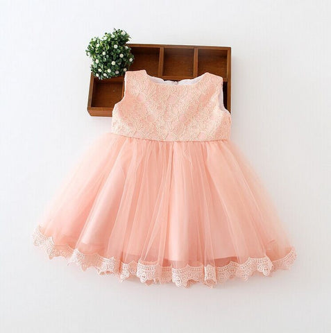 "The ""Reina"" Lace Dress Flower Girl Party Dress - Angora Boutique - 1"