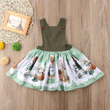"The ""Vintage Garden"" Dark Green Vintage Inspired Apron Dress"