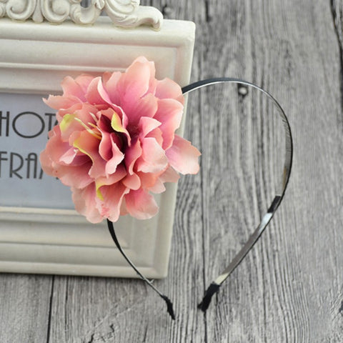 Pop of Flower Headband in Dusty Pink