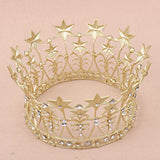 Vintage Glam - I See Stars Gold Star Crown - Angora Boutique - 2