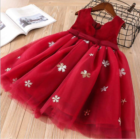 Merry Snowflake Holiday Dress - Fall/Winter 2019 - Red