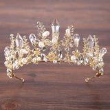 Gold Ice Crystal Headpiece