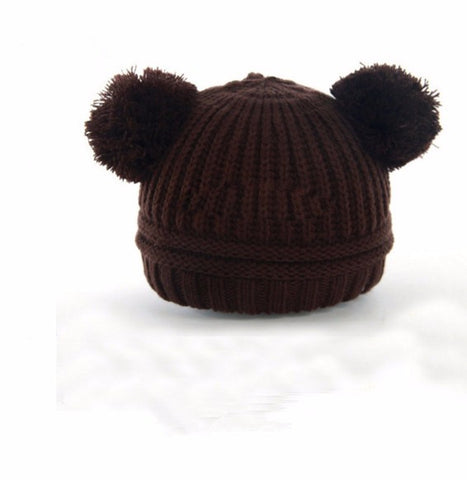 Baby + Toddler Soft Knit Pom Pom Hat