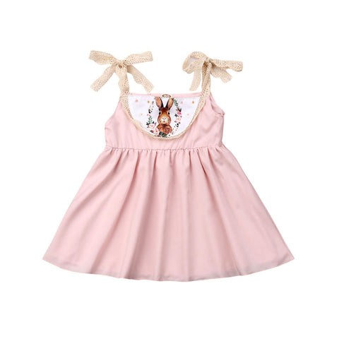 Floral Bunny Spring Baby Toddler Girls Dress - Angora Boutique