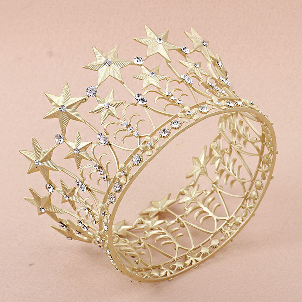 Vintage Glam - I See Stars Gold Star Crown - Angora Boutique - 1