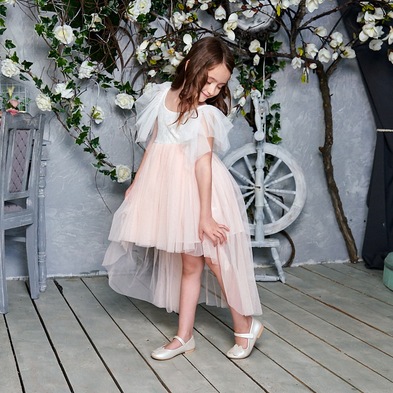 "The ""Everly"" Girls Dress - Light Pink"