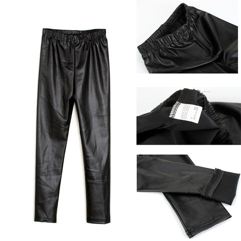 City Glam Faux Leather Leggings - Angora Boutique - 1