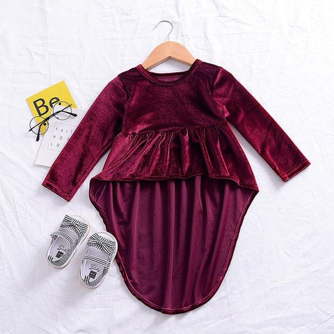 "The ""Hazel"" Burgundy High Low Tunic Top"