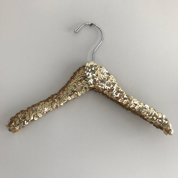 Glam Gold Sequin Child Hanger