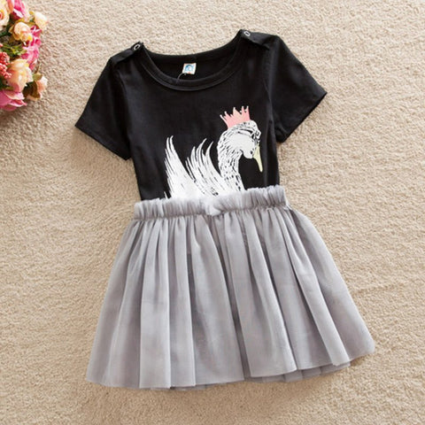 City Glam Swan Tutu Baby Outfit - Angora Boutique - 1