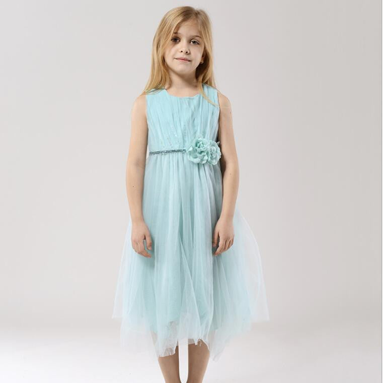 "The ""Flora"" Mint Green Flower Fairy Dress - Angora Boutique - 2"