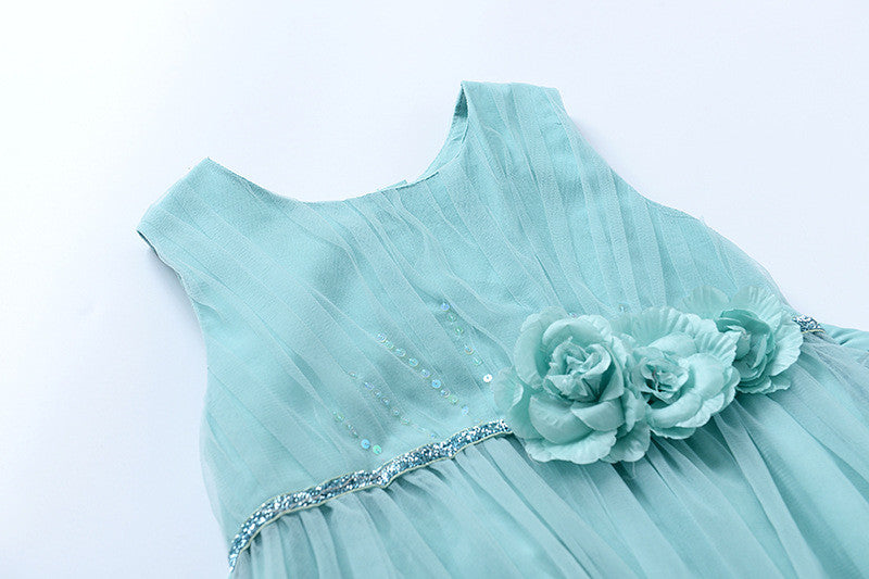 "The ""Flora"" Mint Green Flower Fairy Dress - Angora Boutique - 3"