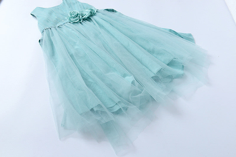 "The ""Flora"" Mint Green Flower Fairy Dress - Angora Boutique - 4"
