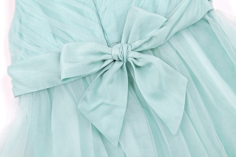 "The ""Flora"" Mint Green Flower Fairy Dress - Angora Boutique - 5"