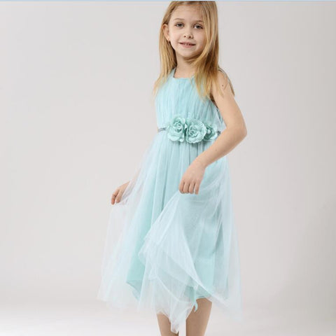 "The ""Flora"" Mint Green Flower Fairy Dress - Angora Boutique - 1"