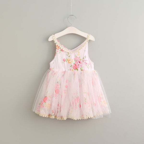 "The ""Miley"" Pink Floral Girls Dress"
