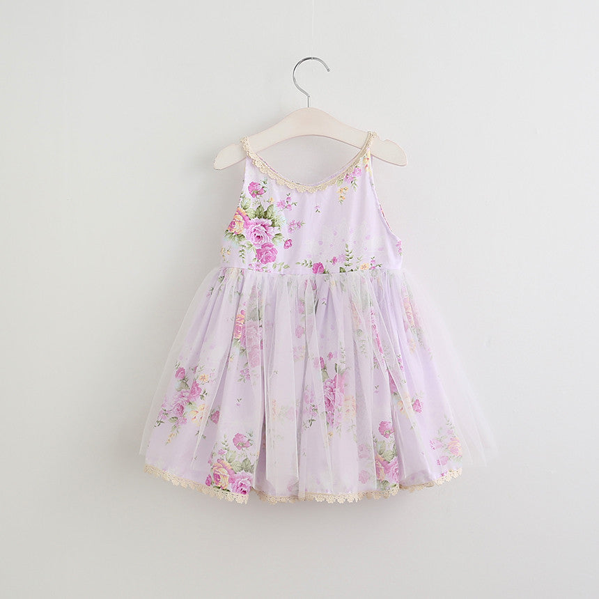 "The ""Miley"" Purple Floral Girls Dress"