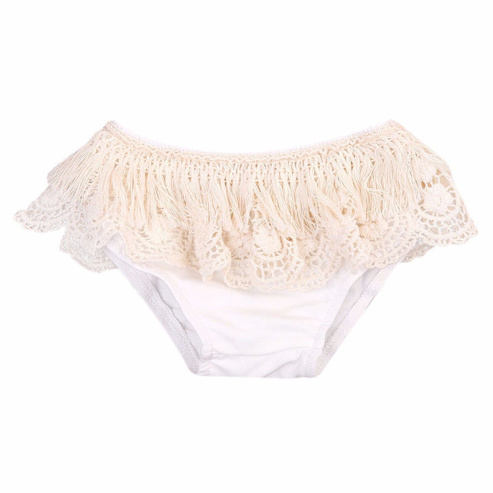 Lace Beige Baby Bloomers