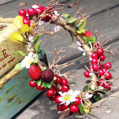 Tiny Antler Woodland Berry Crown