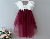 "The ""Everly"" Girls Dress - Burgundy"