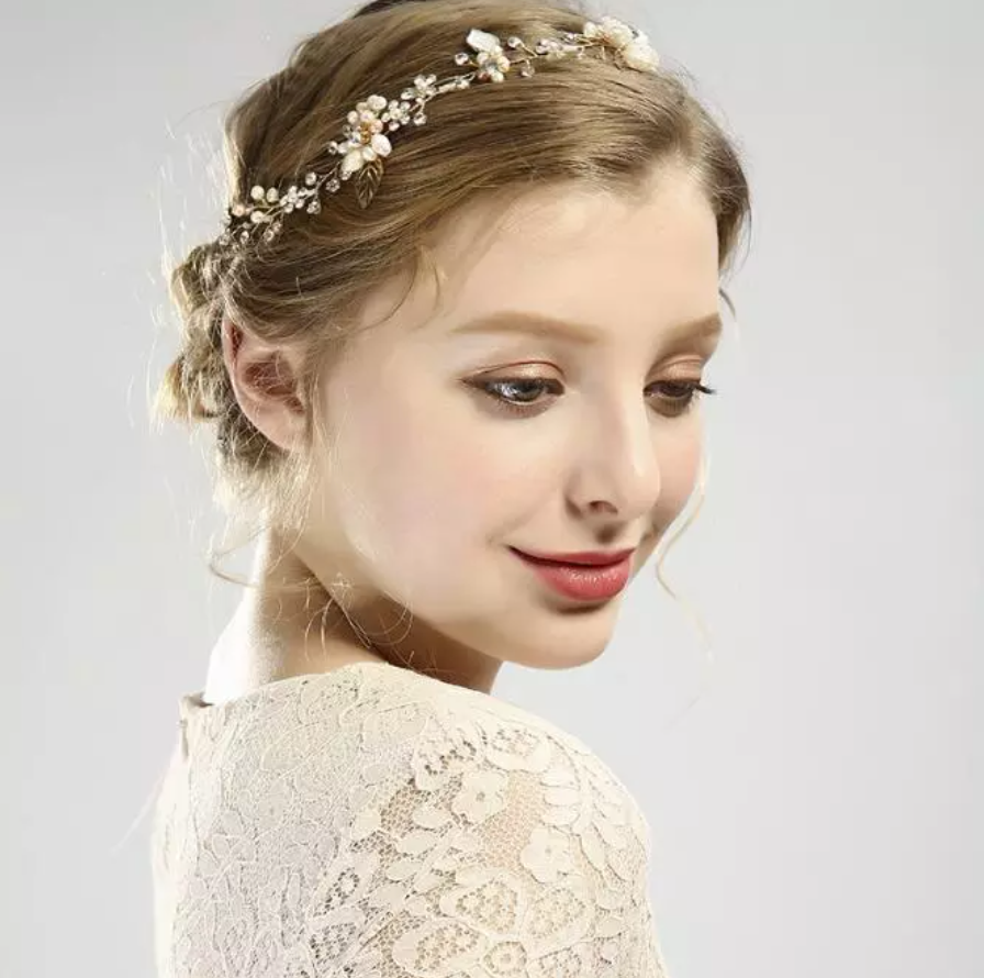 Fairytale Gold Jeweled Headpiece