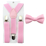 Boys Pink Bowtie and Suspenders Set - Angora Boutique - 1