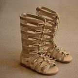 Lara Tan Girls Gladiator Sandals - Angora Boutique