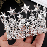 Vintage Glam - I See Stars Silver Star Crown - Angora Boutique
