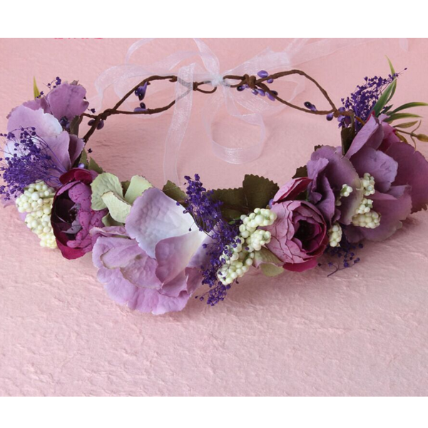 Shades of Fairies - Purple Whimsy Flower Crown - Angora Boutique
