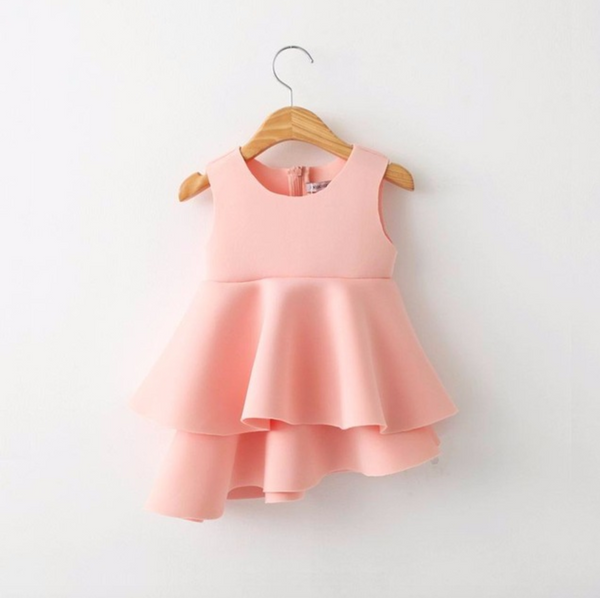 "The ""Valeria"" Pink Soft Ruffle Fashionista Dress - Angora Boutique - 1"