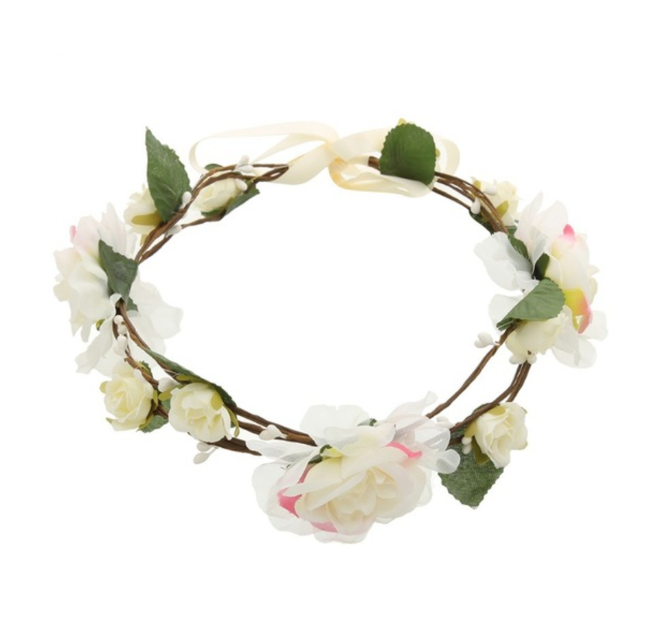 White and Pink Fairy Flower Crown