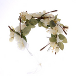 Shades of Pure Ivory Whimsy Flower Crown