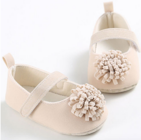 Pom Pom Fashionista Soft Sole Baby Shoes - Beige