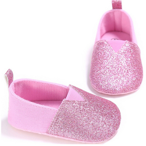 Pink Love Slip On Soft Sole Baby Shoes