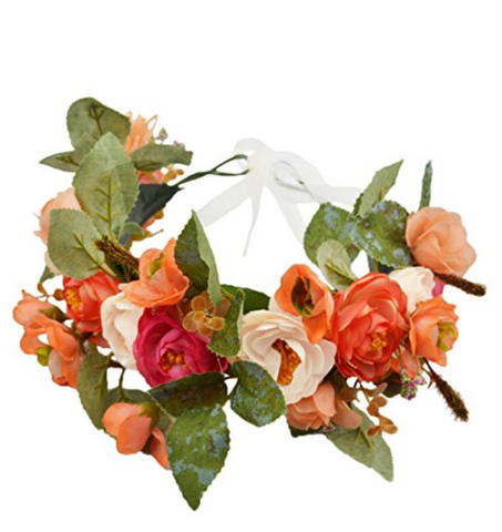 Shades of Terracotta Whimsy Flower Crown