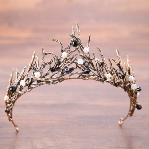 Gilded Vintage Icicle Crown Snow Queen Headpiece