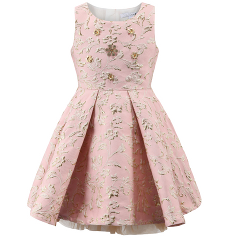 "The ""Harper"" Pretty Pink Jacquard Princess Dress"