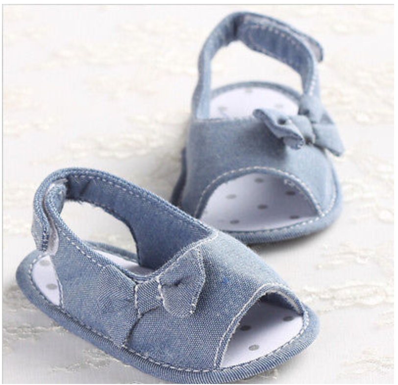 Denim Spring Summer Baby Sandals