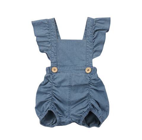 Denim Vintage Inspired Baby Bodysuit Romper
