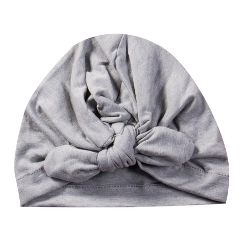 Baby Turban Head Wrap - Gray