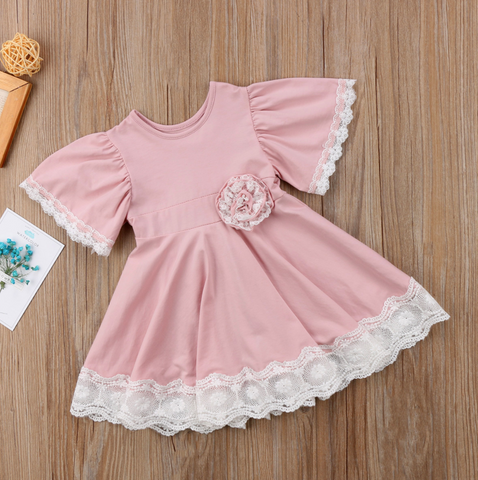 "The ""Sadie"" Dusty Rose Vintage Inspired Baby & Girls Dress"