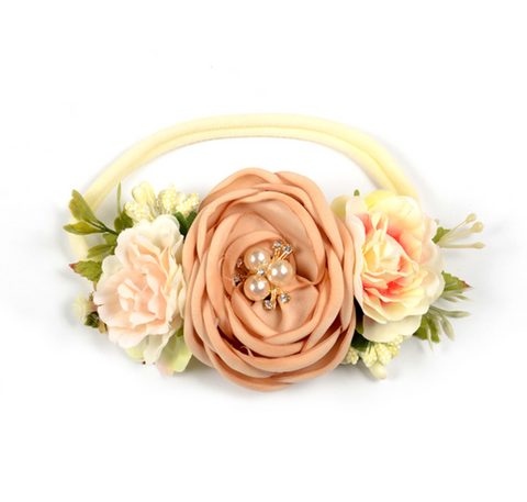 Floral Vintage Inspired Headband for Baby + Girls