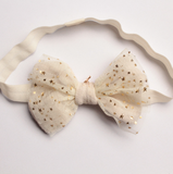 Cream & Gold Star Headband