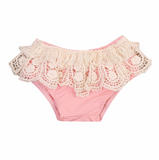 Lace Pink Baby Bloomers