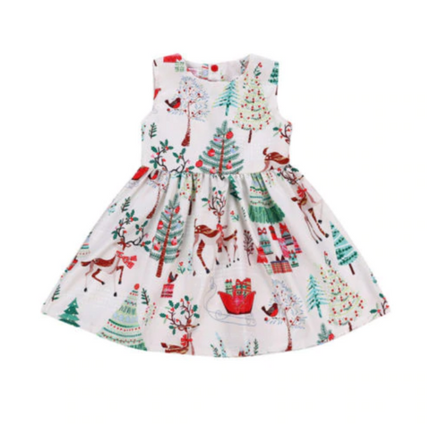 Cheerful Holidays Baby + Toddler Dress