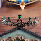 Gilded Emerald Crown Headpiece