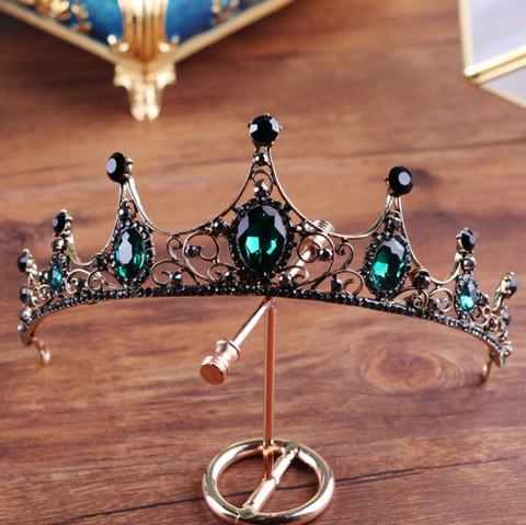 Emerald Dreams Crown Headpiece