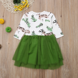 Forest Friends Girls Tutu Deer Dress